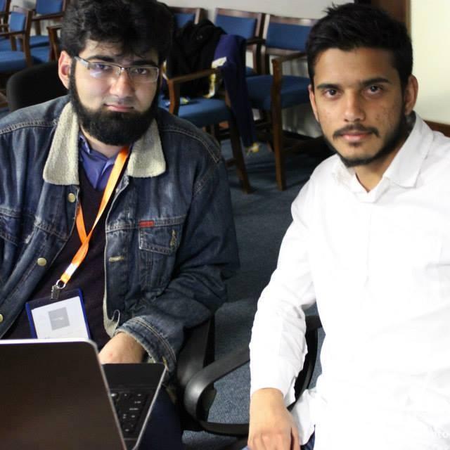 Me and my team mate Faisal Shareef